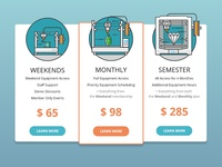 Makerspace Pricing Mockup