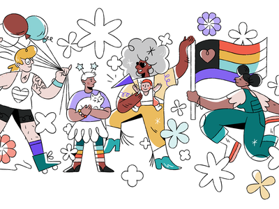 🏳️‍🌈  Happy Pride 2020! 🏳️‍🌈 celebration people character illustration gusto 2020 pride loveislove