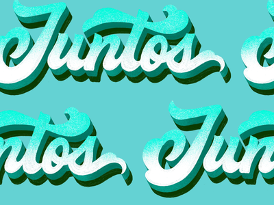 Juntos. (Together) ❤️ letterer hispanic heritage month zoom texture handlettering type procreate hand letter lettering together juntos