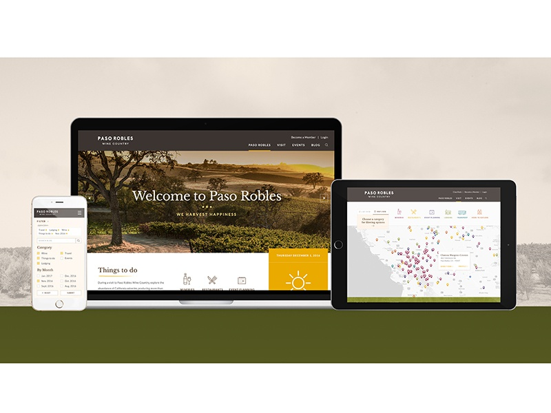 Pasowine.com filter winery digital intuitive responsive redesign website wine country wine pasowine paso robles
