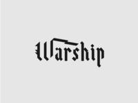 Warship logo - Blackletter