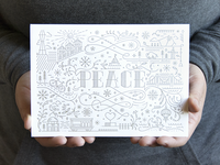 San Francisco peace card - white