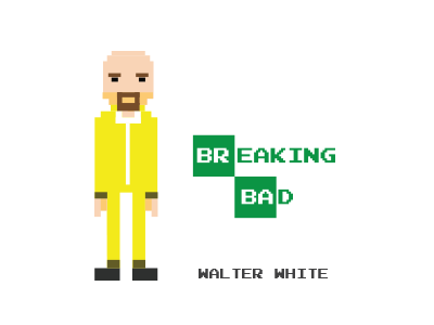8bit Walter White 8 bit breaking bad