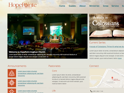 HopePoint Church sharepoint church site