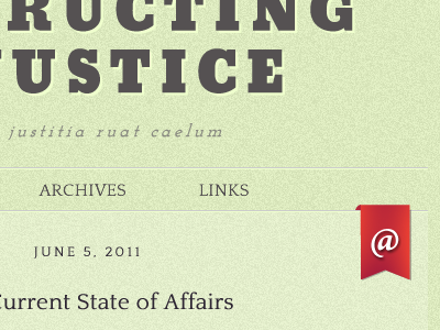 Obstructing Injustice typography web texture header