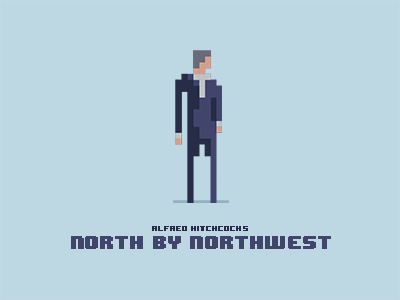 North By Northwest pixel art