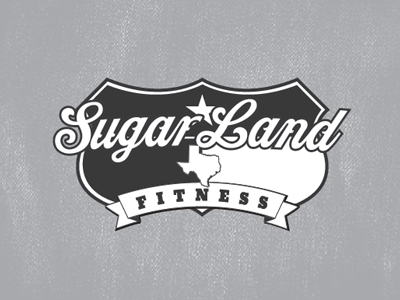 Sugarland Fitness logo retro