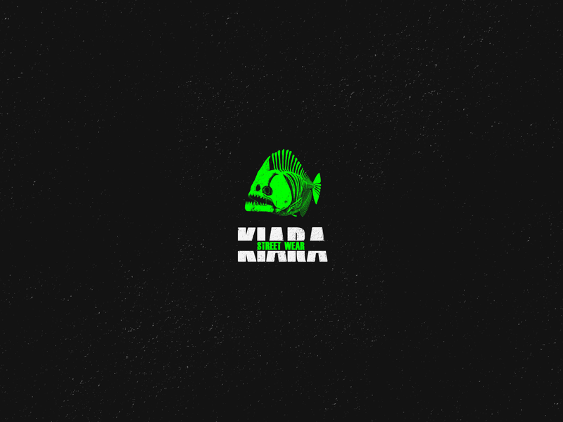 Kiara piranha logotype design brand identity logotipo logotypes logotype logos logo design logo logodesign branding