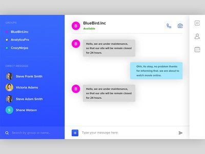 Daily ui #013 direct messaging messager chat chat app