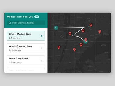 Daily ui #020 search location pin maps track location store finder location tracker