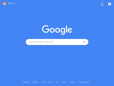 Google Search Page google redesign concept user interface