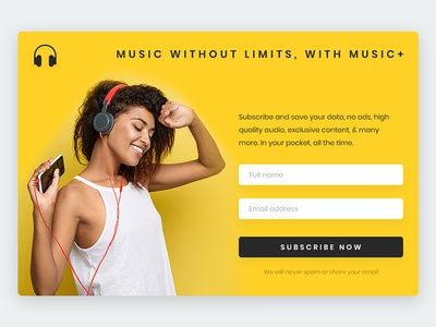 Daily ui #026 flat minimal popup subscribe