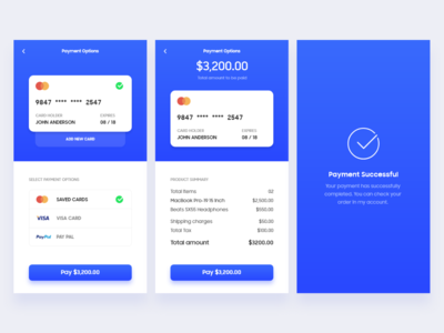 Payment Flow payment app phone ui card payment payment method payment clean