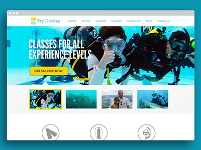 Try Diving Home Page ui design