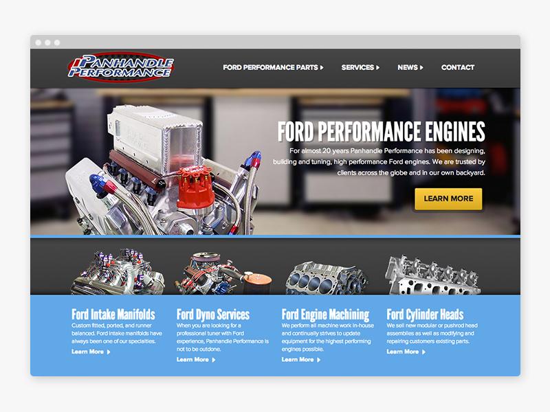 Panhandle Performance website design front end development css html wordpress