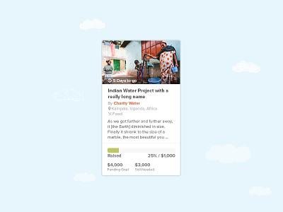 Final Widget Design widget ui crowdfunding