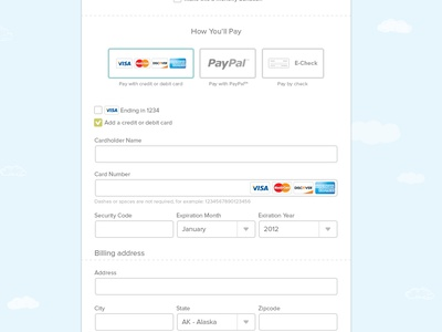 Funding Flow Payment options payment ach paypal credit card checkout