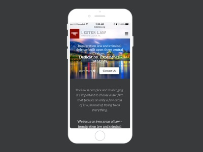 Lester Law Responsive responsive mobile law