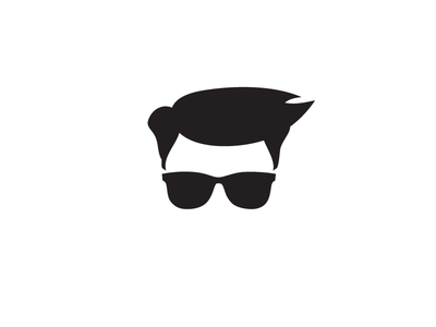 Working on creating a brand for myself hair logo bw vector