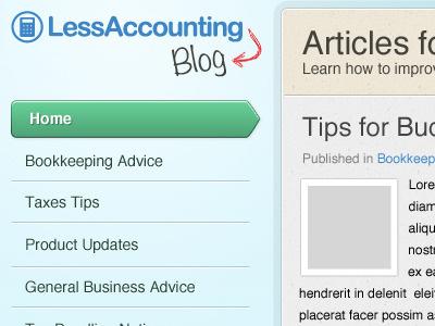 Less Accounting Blog Main ui website design ui design blog