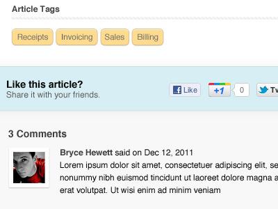 Less Accounting Blog Single Page blog ui ui design website design