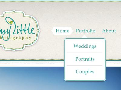 Amy Little Photography ui ui design website design