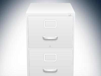 Filing Cabinet design photoshop illustration