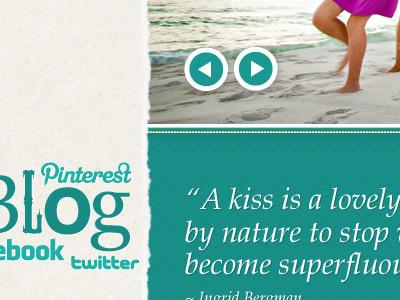 Amy Little Photography Home Page blog design ui design web design