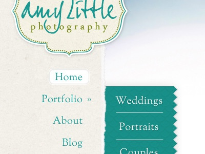 Amy Little Photography Home Page Layout ui ui design website design