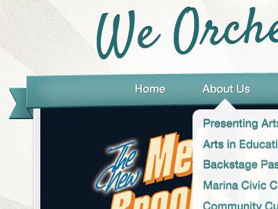 Bay Arts Alliance Home Navigation navigation ui ui design website design graphic design