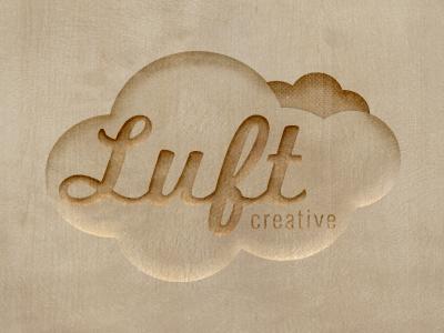 Carved Luft Creative Logo wood carved luft creative logo