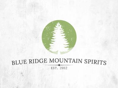Blue Ridge Mountain Spirits logo green logo design branding