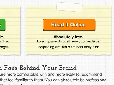 Home Page Layout website design e-book web design ui design