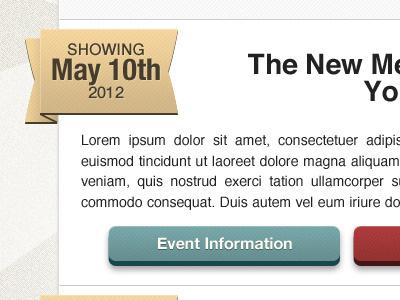 Bay Arts Events Page website design web design ui design