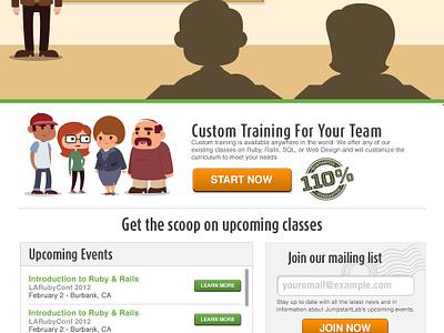 JumpstartLab Home Page ui design website design photoshop