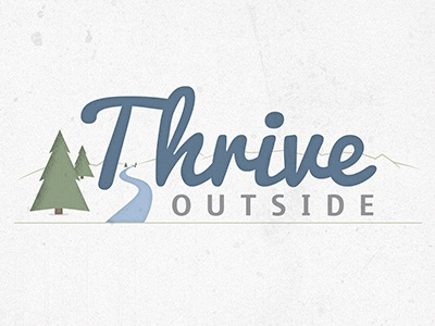 Thrive Outside Logo thrive outdoors logo design trees