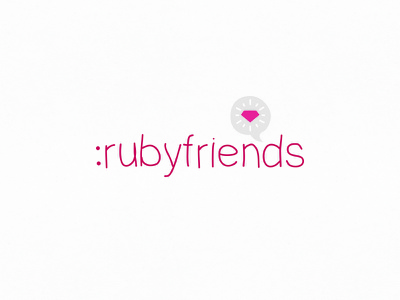 Ruby Friends Logo logo design design ruby on rails ruby friends