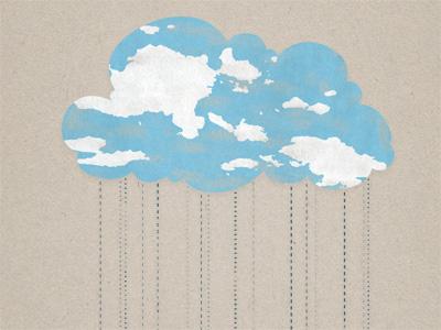 Rain Cloud cloud texture illustration paper distressed vintage rain practise just for fun