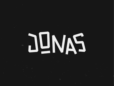 Jonas Logotype rough playful logotype custom type jonas logo