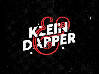 Klein & Dapper lettering logo font texture illustration collection typography type