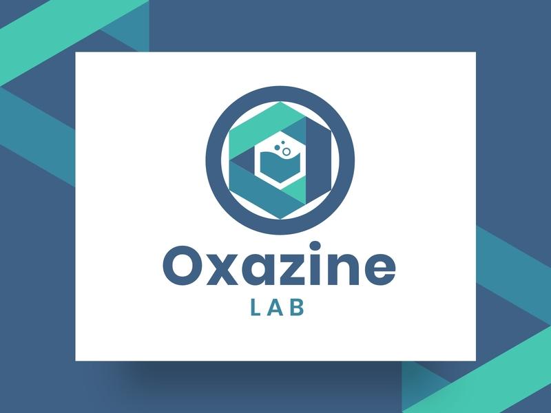 Oxazine logo vector design logo designer chemical industry oxazine lab lab logo logo mark chemical logo chemical circle logo o logo logo design logo