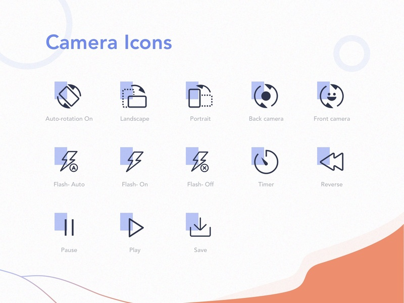 Stabilizer Mobile Application Icons application video ux ui icon video stabilize camera app app iconography icon set