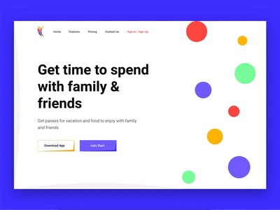 The Passes Animation bubbles web offers landing page colorful buttons banner artwork art modern gradient colors minimal flat animation illustration vector ux ui design