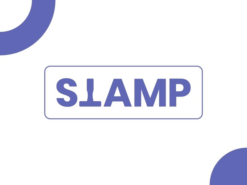 Stamp Logo text logo minimalist logo stamp design branding logo