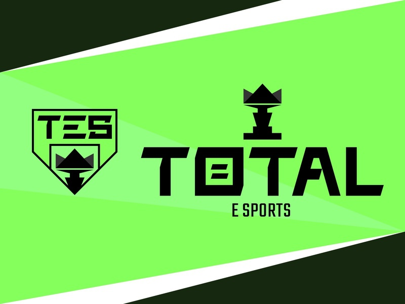 Total E Sports customtype tournament crown shield total cup e sports logo design logo design