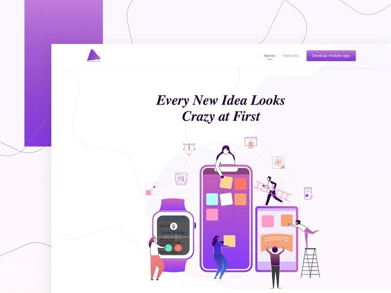 Develop Mobile Application app development flat illustration flatdesign colors app design development website minimal app typography branding gradient web ux illustration vector artwork
