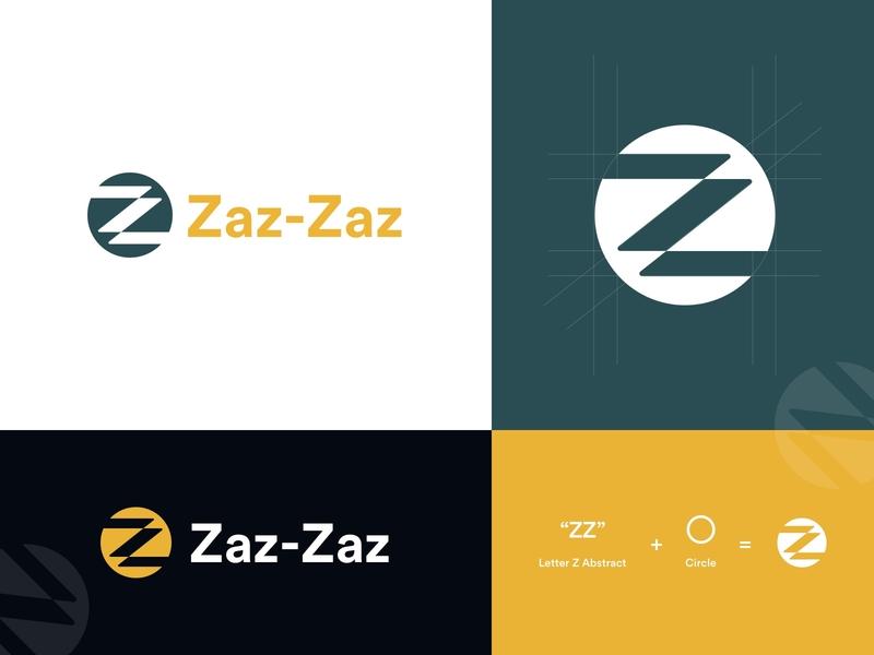 Zaz Zaz Logo design logo presentation presentation typography logodesign zz letter zz circle logo circle color logo design z letter logo
