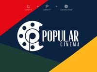 Popular Cinema Logo logo designer cinema logo film logo gradient logo gradient ux ui design logodesign
