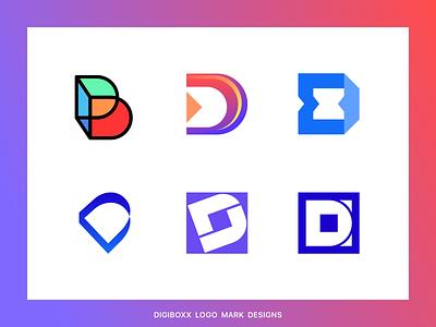 D Logo marks d logo d letter logo d mark vector minimal branding design logo