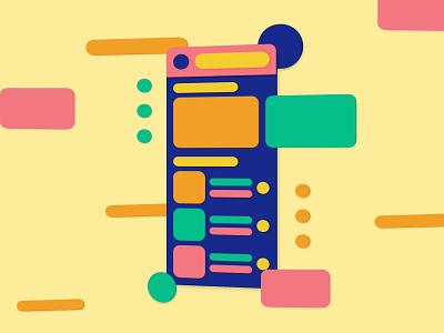 3D UI Illustration bright colors ux design uxui ui design 3d artist colorful shadow app color minimal design illustration ux ui 3d illustration 3d